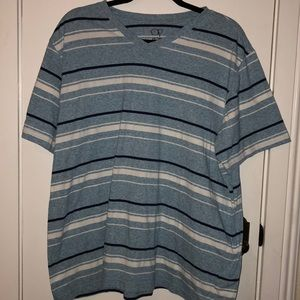 OP size 2XL blue and white striped shirt